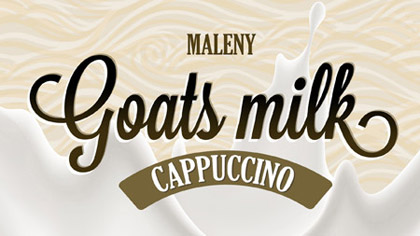 A coffee and goats milk combo.