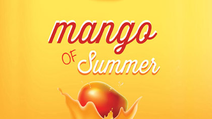 Fresh pure mango as a refreshing sorbet.