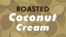 Coconut ice cream with shaved roasted coconut.