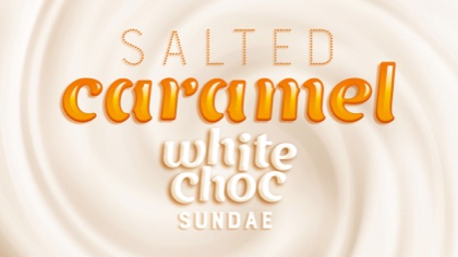 Salted Caramel ice cream with crumbled white chocolate