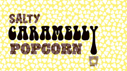 Salted caramel ice cream with caramelly popcorn.