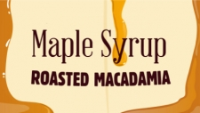 Roasted macadamia nuts folded through Canadian maple syrup ice cream.