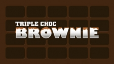 Triple choc ice cream with chunks of choc brownie.